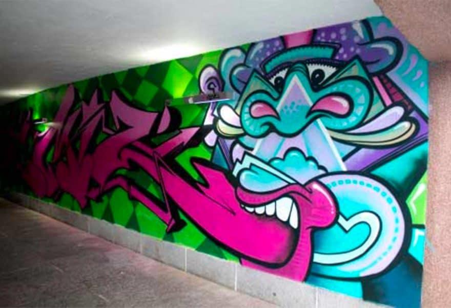 Drammens Museum DKS Grafitti
